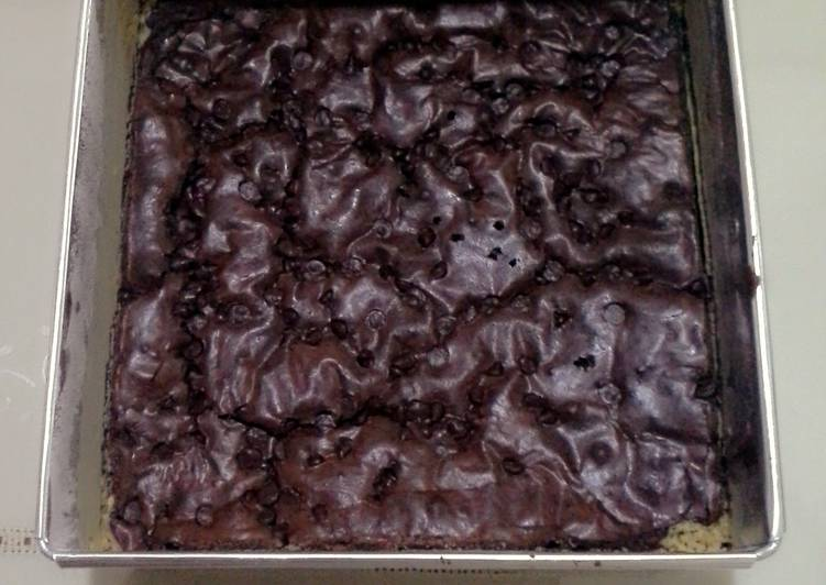 chocolate brownie with chocolate chips