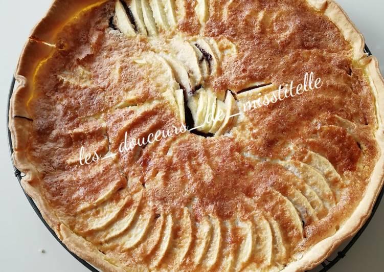 Tarte aux pommes et au chocolat