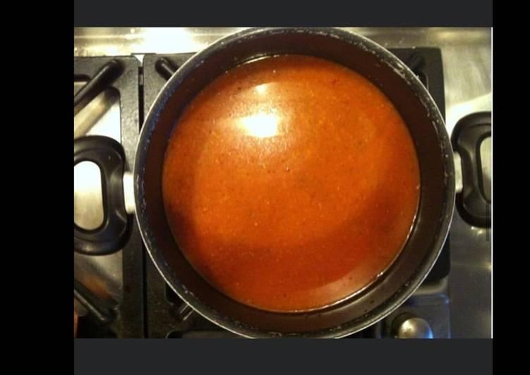 Soupe de tomates et légumes au vermicelle