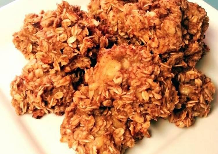 Flourless Oatmeal Banana Almond Butter Cookies
