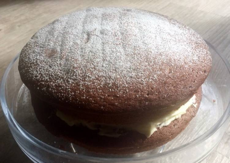 Step-by-Step Guide to Make Favorite Chocolate Victoria sponge cake