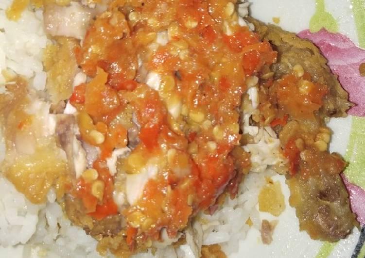Ayam Geprek (masakan rumahan sederhana)