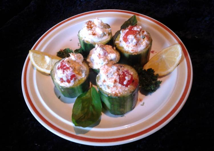 Amy's cucumber cups .