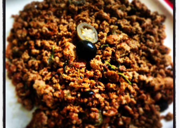 Minty Spicy Kheema (ground beef )