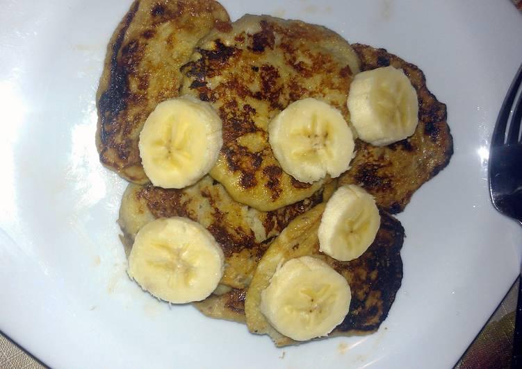 10 Minute Recipe of Award Winning 2 ingredient pancakes!
