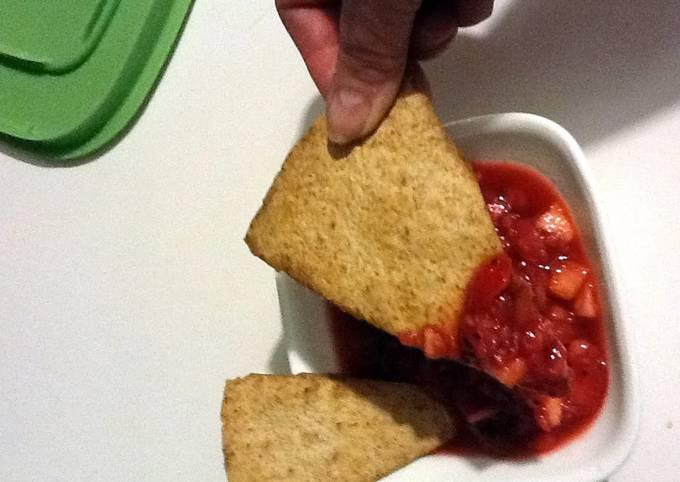 Fruit Salsa & Baked Cinnamon Chips