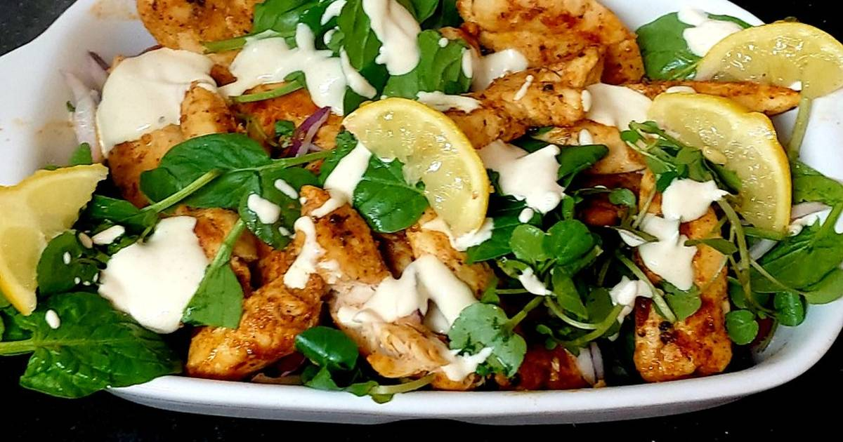 My Spicy Chicken Salad Mainmeal Lunch Recipe By Maureen Cookpad