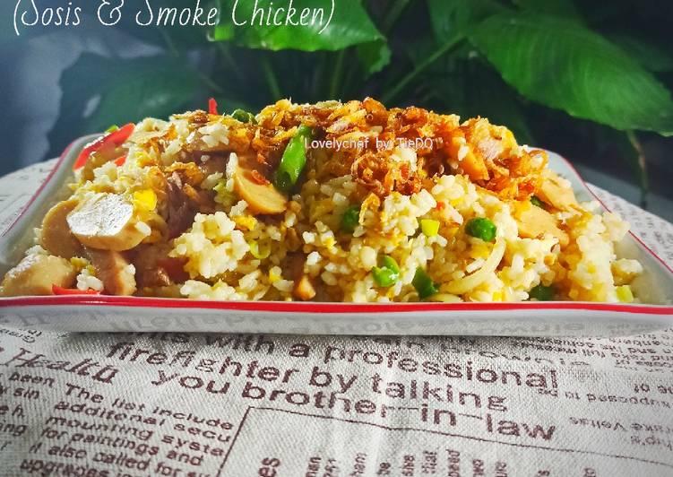 Nasi Goreng Putih (Sosis & Smoke Chicken)
