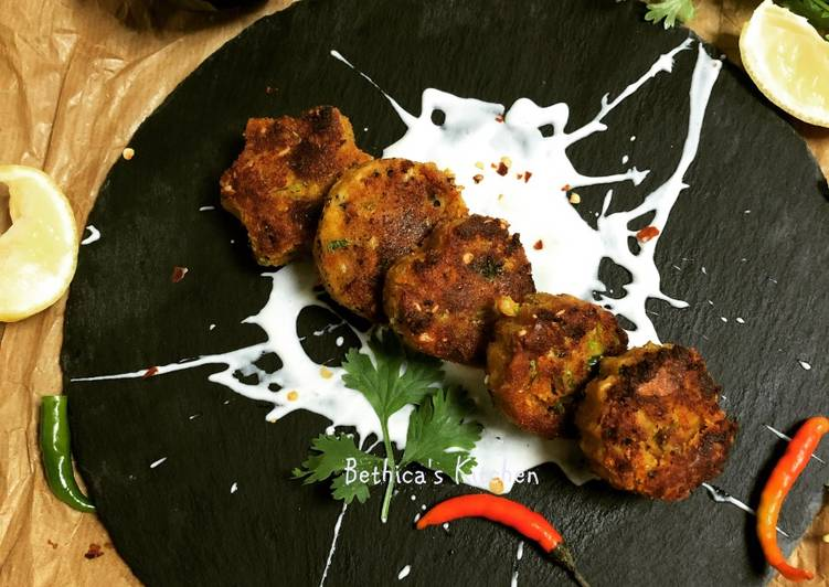 Dal and Paneer Tikki Cutlet Patty