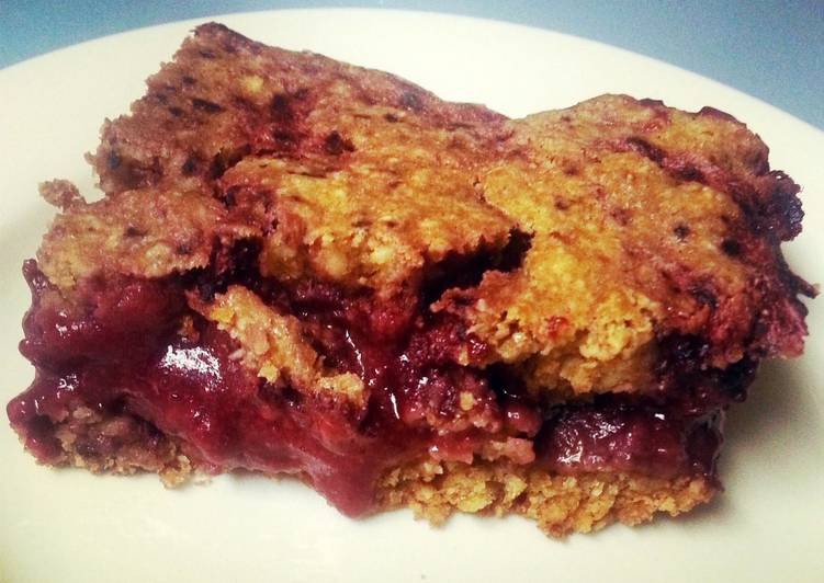 Healthy Strawberry & Blueberry Oatmeal Protein Bar