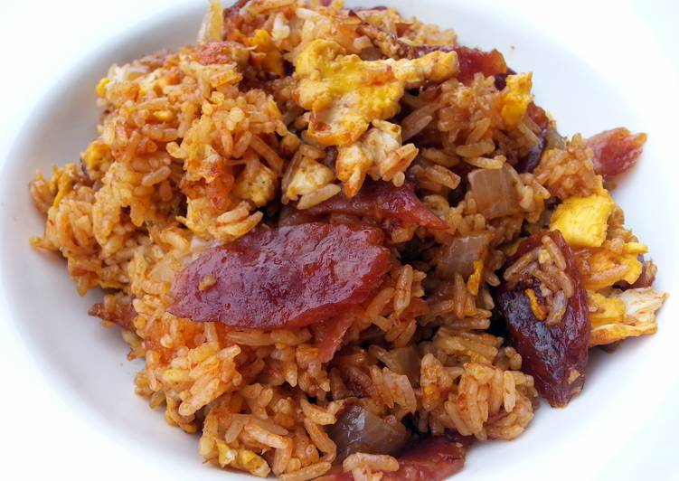 Spicy Egg And Chinese Sausage Fried Rice