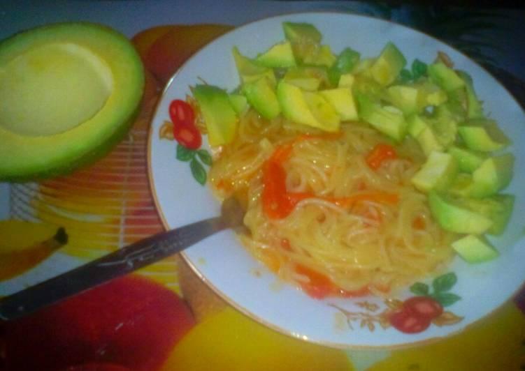 Recipe of Most Popular Spaghetti with Guacamole
