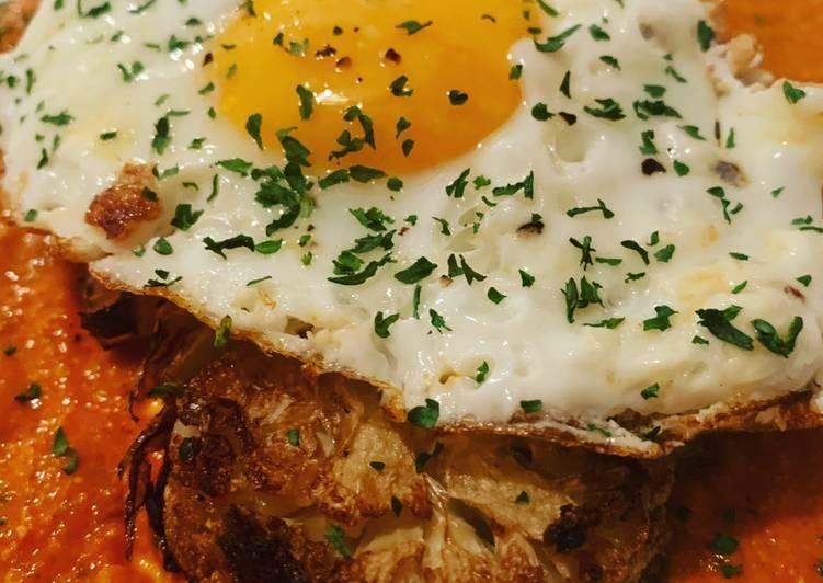 Steps to Prepare Ultimate Vegetarian Friendly: Cauliflower Steak with Romesco Sauce
