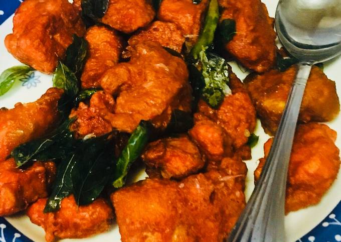 Steps to Make Homemade Chicken 65 recipe