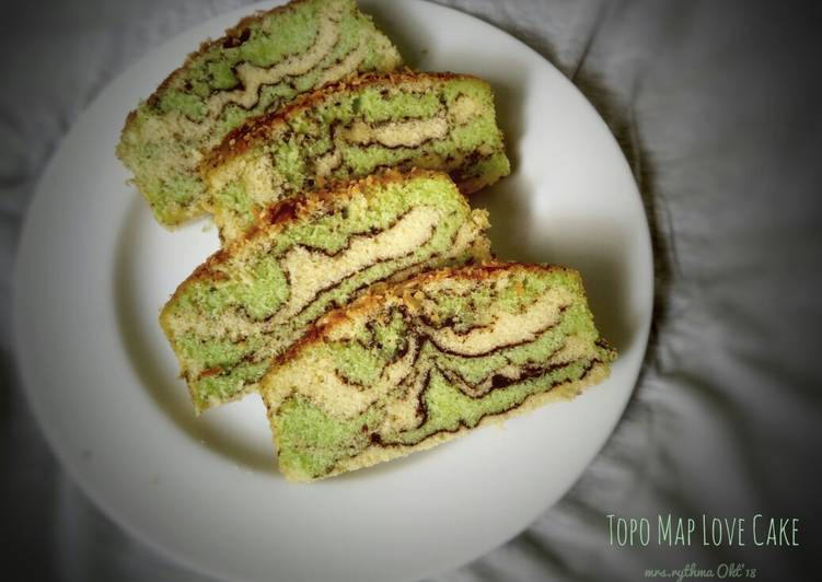 Topo Map Love Cake
