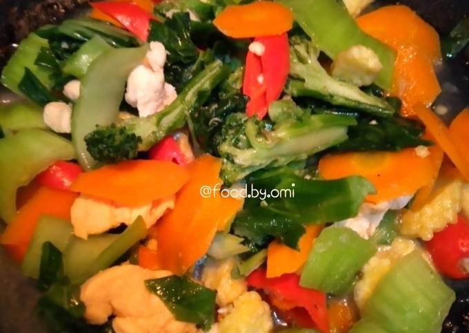 Tumis Sayuran, porsi kecil, masak cepat -bekal ke kantor#1-