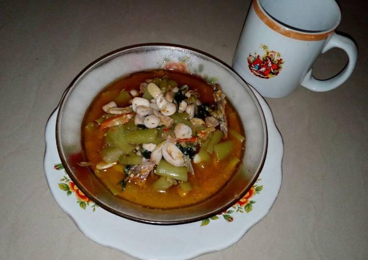 Tumis lompong,jamur & ikan asin