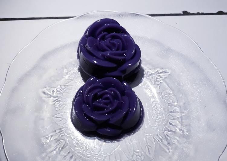 Puding ubi ungu