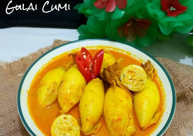 Resep Gulai Cumi Isi Tahu Telur Yang Yummy