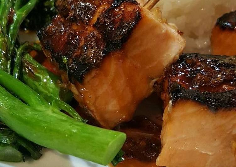 Hint to Assemble Succulent Teriyaki Salmon Bites
