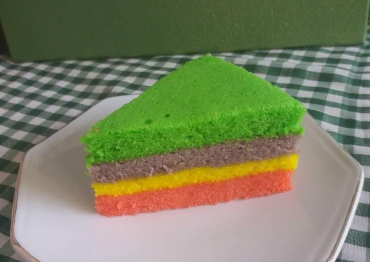 Rainbow Cake Kukus