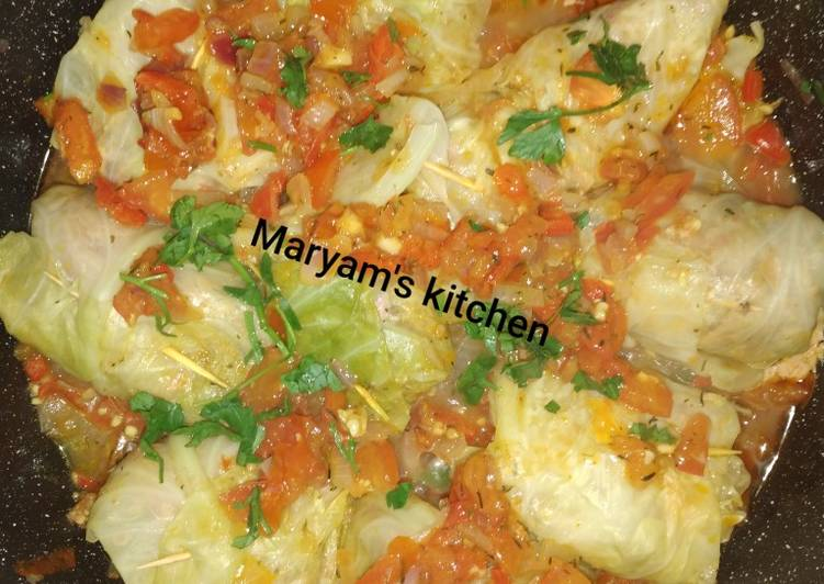 5 Minute Recipe of Royal Cabbage roll (dolma)