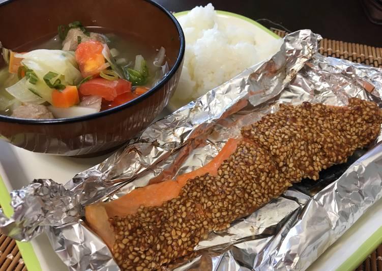 Salmon Panggang Bumbu Miso Wijen