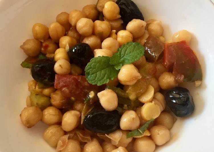 La Meilleur Recette De Salade fraîche aux pois chiches