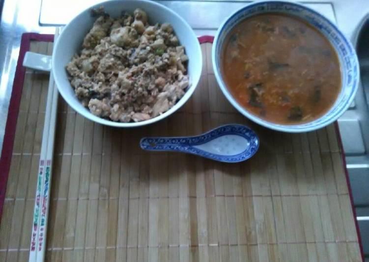 Japanese minestrone chunk tomato soup yutaka seaweed
