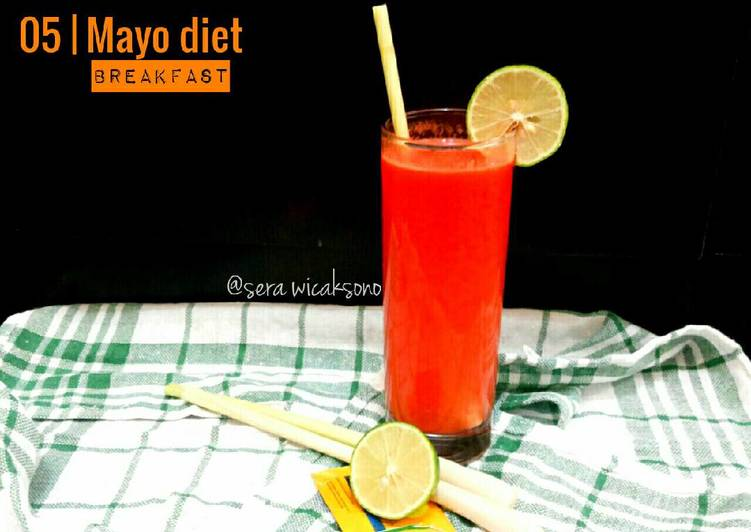 Resep Mayo day 5 – breakfast | jus wortel sere Terbaik