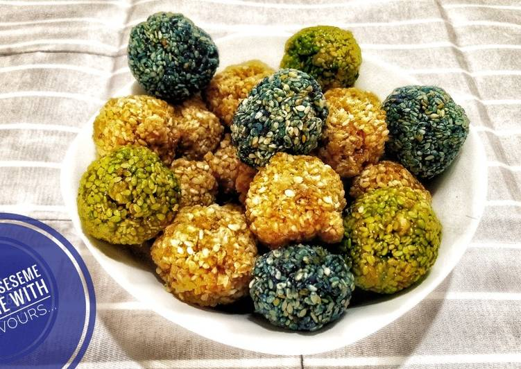 Recipe of Perfect Sesame Praline's with Four flavours