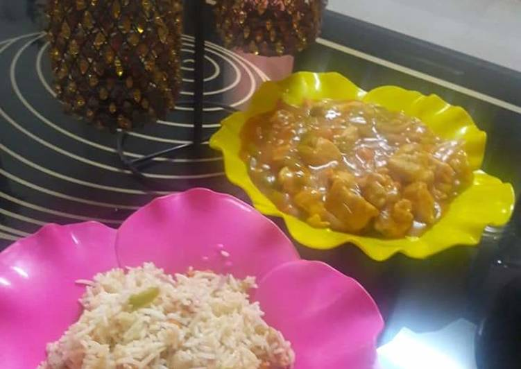 Easiest Way to Make Award-winning Chicken manchurian and egg fried rice