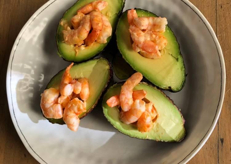 Comment faire Préparer Appétissante Avocat farci aux crevettes