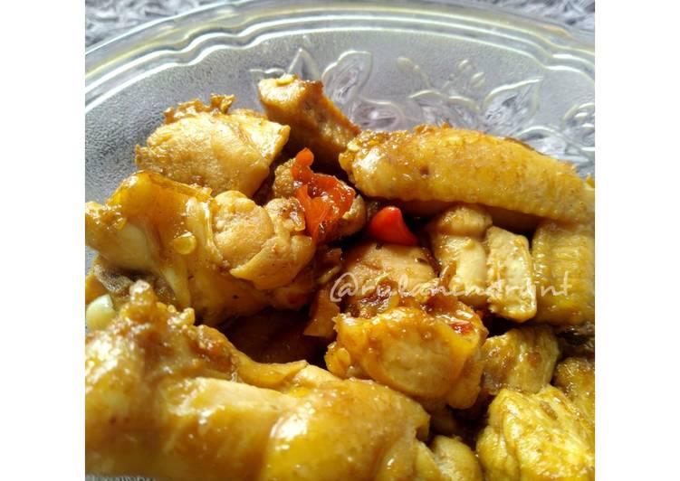 Ayam kecap (pedas manis)