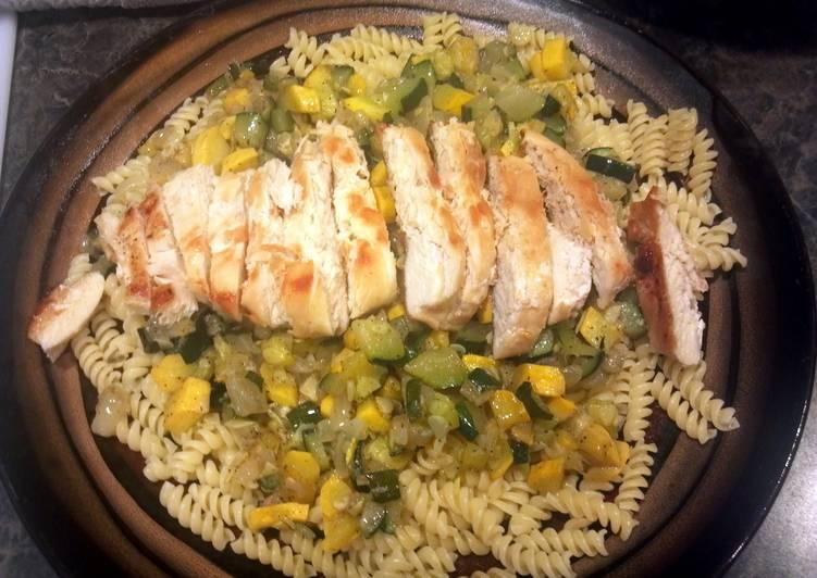 Chicken veggie pasta