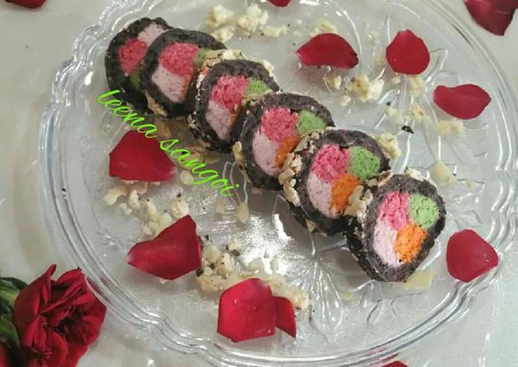 30 Minute Step-by-Step Guide to Make Spring Rainbow Cassatta sandesh