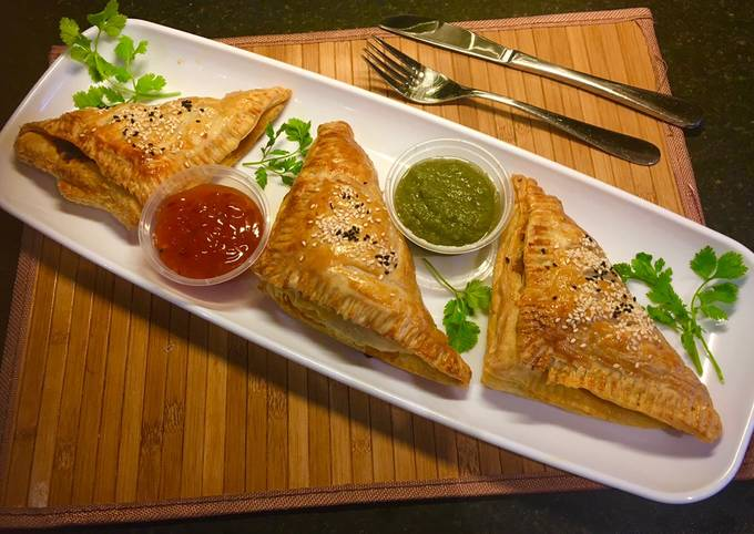 Keema puff pastry: (minced beef puff pastry)