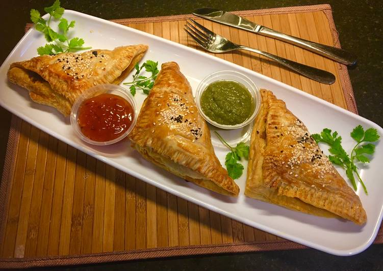 15 Minute Steps to Prepare Blends Keema puff pastry: (minced beef puff pastry)