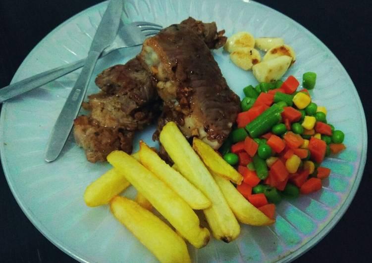 Beef steak sederhana