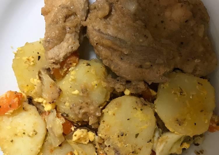 Recipe: Delicious Potato stew with pork