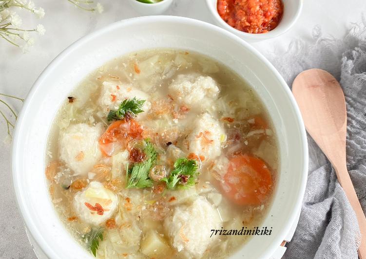 Sup baso ikan tenggiri