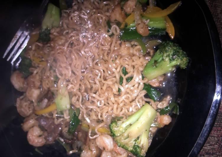 Recipe of Speedy Ramen Shrimp Stir Fry