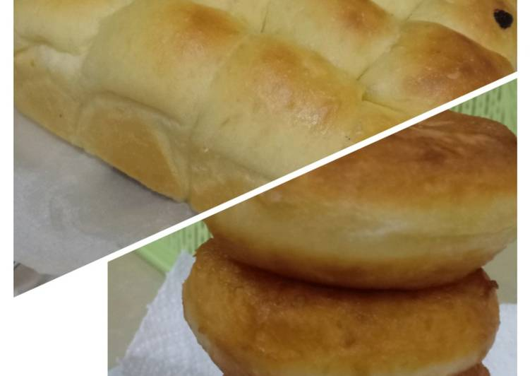 Donat kentang empuk dan roti kentang