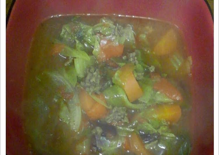 Easy Beef & Vegetable soup