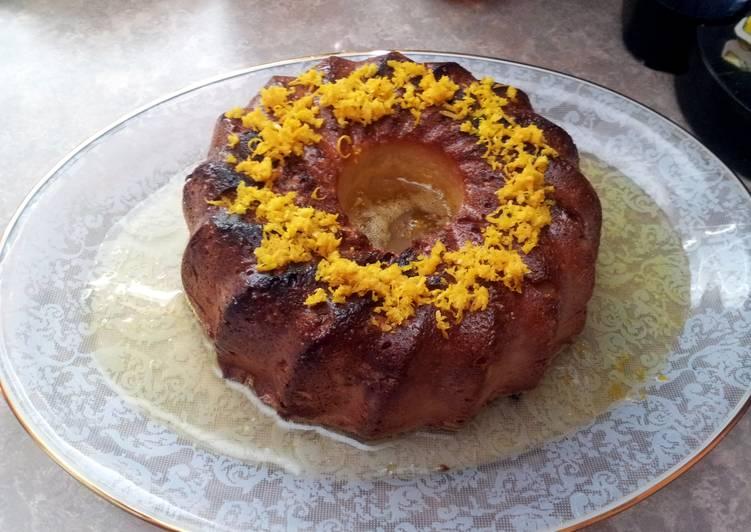 Portuguese Orange Cake with syrup