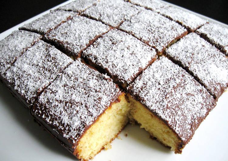 Steps to Prepare Perfect Lamington Style Cake