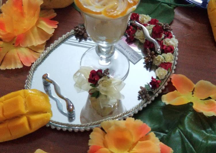 No bake mango dessert