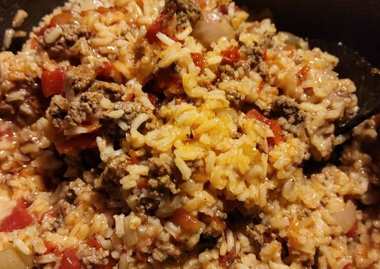 Easiest Way to Make Perfect Spanish rice with ground beef