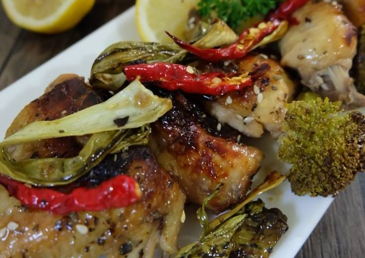 Chicken Roasted with Vegetable, lemon and honey
