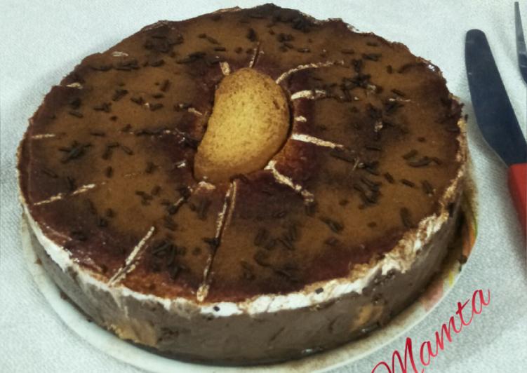 Rusk-Chocolate mousse cake